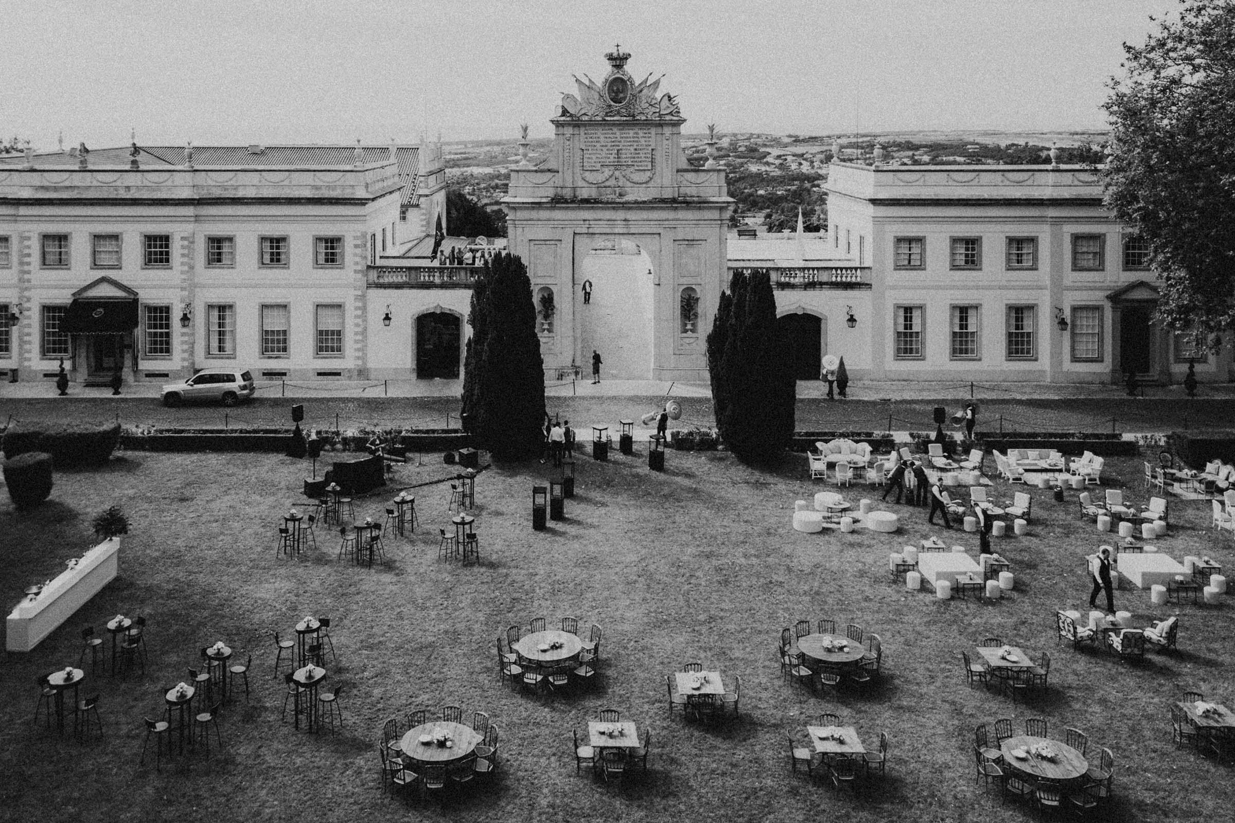 aerial view of palacio seteais